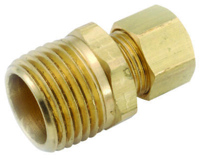 Anderson Metals 750068-0408 Connector, 1/4 in Compression, 1/2 in MPT
