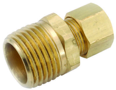 Anderson Metals 750068-0806 Connector, 1/2 in Compression, 3/8 in MPT