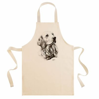 Mike Sibley Golden Retriever dog breed  cotton drill bib apron cook/chef gift