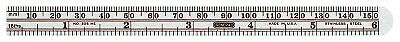 Economy Precision Stainless Steel Rules, 6X15/32, Stainless Steel, Inch/Metric