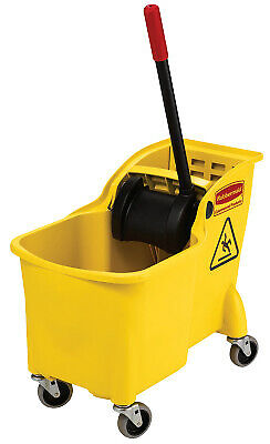 Tandem Bucket and Wringer Combo, 31 qt, Yellow