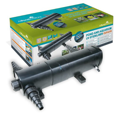 All Pond Solutions CUV-218 UV Light Steriliser/Clarifier Filter, 18 W