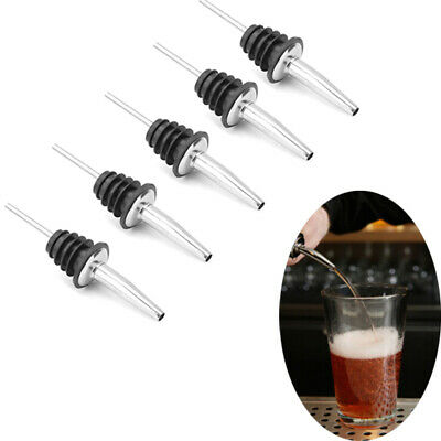 4x Stainless Steel Liquor Spirit Pourer Wine Bottle Pour Spout Stopper Top UWUK