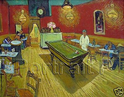 Vincent van Gogh The Night Cafe Oil Painting Repro Canvas Art NOT a Print 30x40
