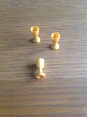 Lego 10 Piece Golden Goblet 2343 Pearl Gold Minifig Utensil Goblet Castle NEW
