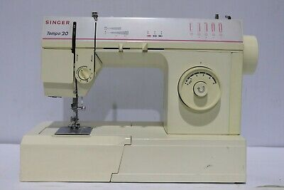 Vintage SINGER Tempo 20 Electric Sewing Machine + Soft Case - 250
