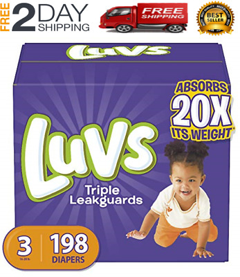 Diapers Size 3, 198 Count - Luvs Triple Leakguards Disposable Baby Diapers