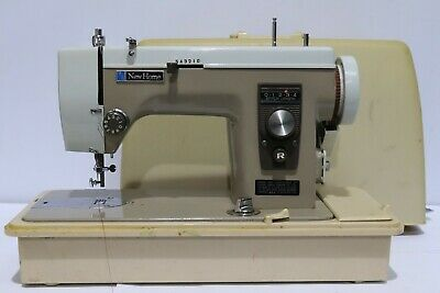 Vtg NEW HOME Model 535 Electric Sewing Machine + Foot Petal, Case + Accs - 250
