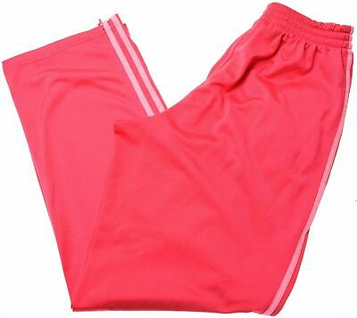 ADIDAS Girls Tracksuit Trousers 15-16 Years XL Pink Polyester  MF10