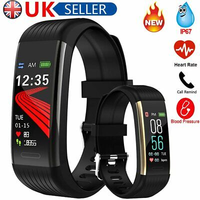 Smart Bracelet Waterproof Blood Pressure Fitness Tracker Watch for Android iOS