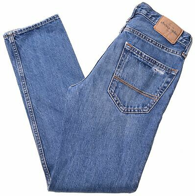 ABERCROMBIE & FITCH Boys Jeans 13-14 Years W26 L29 Blue Cotton Straight  MF05