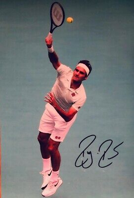 Tennis Roger Federer Original Hand Signed Photo 30x20cm With COA.