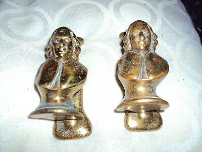 2 vintage brass door knockers small possible shakespeare  3""