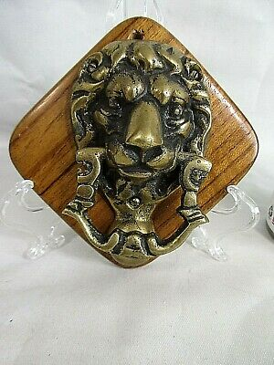 Vintage Lion's Head BRASS DOOR KNOCKER