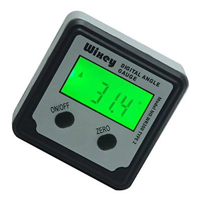 Hold Button Vial Spirit Level Wixey WR360 Digital Angle Inclinometer Gauge