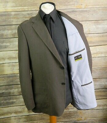 Mens marks & Spencer suit linen blend 44S W38 L31 brown blazer trousers 9,126