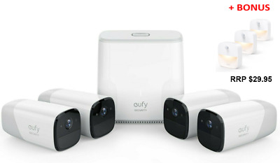 Eufy T8807CD3 Cam Wire Free Full-HD Security 4-Camera Set with Base - RRP $1249