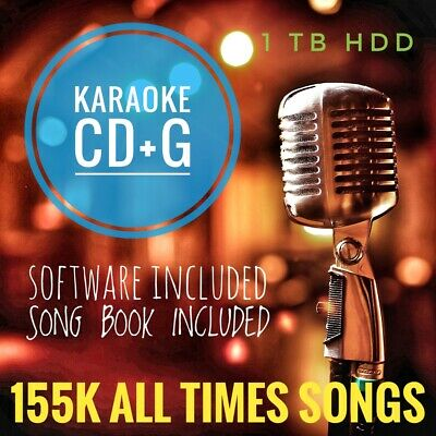 Massive PRO KARAOKE HDD cdg+mp3 Collection 155k all times songs 1Tb Hard Drive