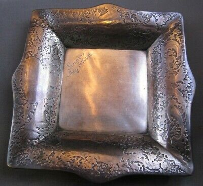 1800's Tiffany & Co.Sterling Silver Musical Motif Card-Vanity-Pin-Tray AUTHENTIC