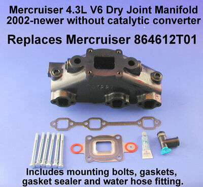4.3L,V6 Dry Joint Mercruiser Style Exhaust Kit Replaces years 2002-2004