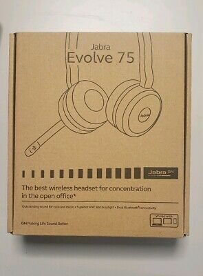 Jabra Evolve 75 Stereo Wireless Headset / Music Headphones