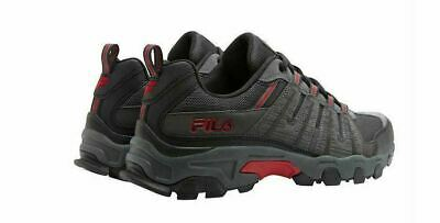 FILA WESTMOUNT GREY Black Red Leather Hiking Sneakers New