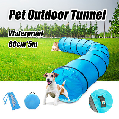 Outdoor Pet Dog Agility Training Exercise Long Tunnel Waterproof