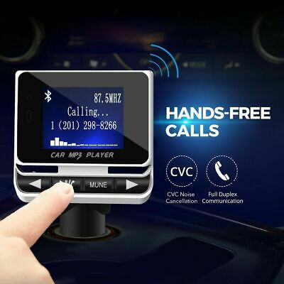 Wireless Bluetooth Car Kit MP3 USB Charger Wireless FM Transmitter 1.4 INCH LCD