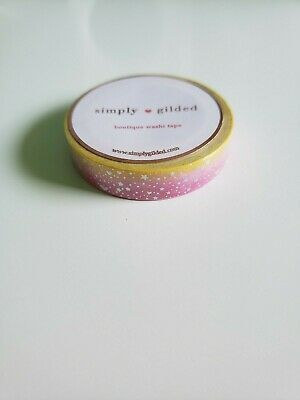 Simply Gilded Washi Tape BRAND-NEW Skinny Electric Twilight w/ Silver Holo Foil