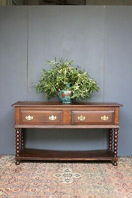 Antique Oak long console table.
