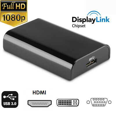 USB 3.0 to HDMI VGA DVI IC of Displaylink Video Converter for Win10/8/ macs os