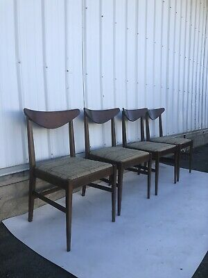 Set of Four Mid Century Modern Dining Chairs By Stanley Furniture