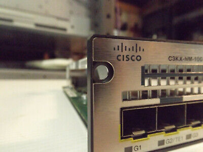 Cisco C3KX-NM-10G Expansion module missing one locking screw and post.