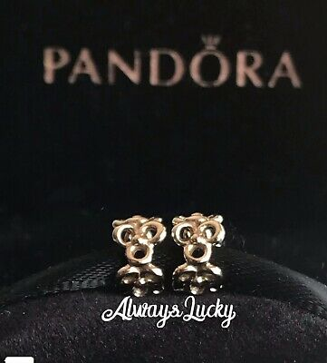 2 Authentic Pandora Trinity Spacers Solid Gold G585 Ale Pandora Charms Retired
