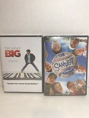 2 Dvd Lot 'Big' & 'The Sand Lot' Sealed New PG Rated Widescreen