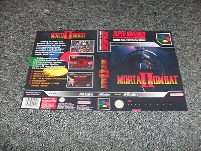 REPLACEMENT NINTENDO SNES UNIVERSAL GAME CASE BOX cover only - MORTAL KOMBAT 2
