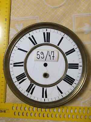 Clock Dial Brass ANTIQUE  ENAMELED