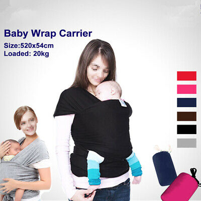 Breastfeeding Pouch Baby Sling Adjustable Cotton Wrap Infant Carrier Up to3YRS