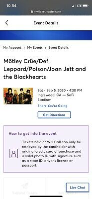 Stadium Tour Concert Tickets ...Incredible Opportunity To See 4 Rock Legends