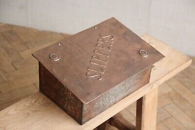 Vintage Antique Arts and Crafts Copper Slipper Warmer Box