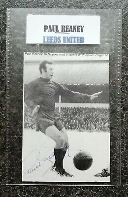 PAUL REANEY LEEDS UNITED ENGLAND FOOTBALL AUTOGRAPH IN 6x4 POCKET SLEEVE