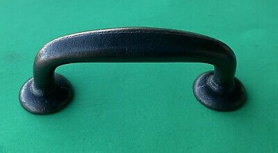 """3 1/4"""" o.c. Antique Hardware drawer pull Cast Iron Bronze Rustic Cabinet Handle"""
