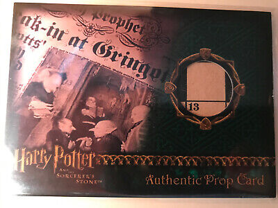 Harry Potter Sorcerers Stone Prop Card