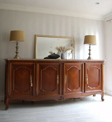 Louis Xv Style French Vintage Sideboard Marble Top