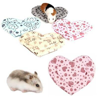 Cute Small Animal Hamster Guinea Pig Rabbit Bed Soft Warm Plush Winter Cage Mat.