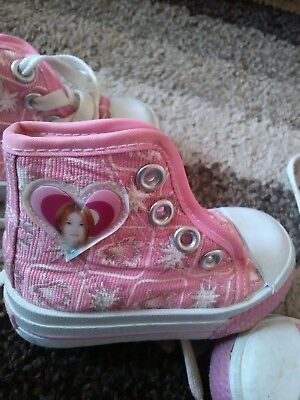 Two pairs of Girls Pink Mountain trainers size 18 infant