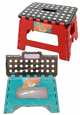 Small Multi-Purpose Fold Step Stool Plastic Home Kitchen Foldable Easy Storage
