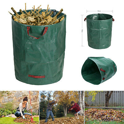 500L Large Garden Waste Bag Strong Rubbish Sack Waterproof Heavy Duty Reusable P