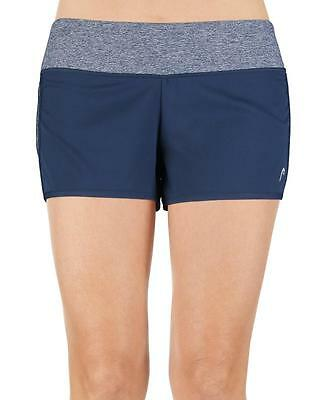 """HEAD - Womens M - NWT - 3"""" Slim Fit Blue Sunset Active Athletic Running Shorts"""