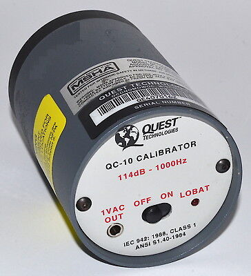 Quest Technologies Model QC-10 Calibrator *Used, Power-On Tested*